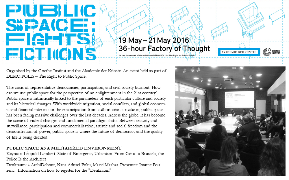 """Round table Discussion on """"Public Space as a Militarized Environment""""."""