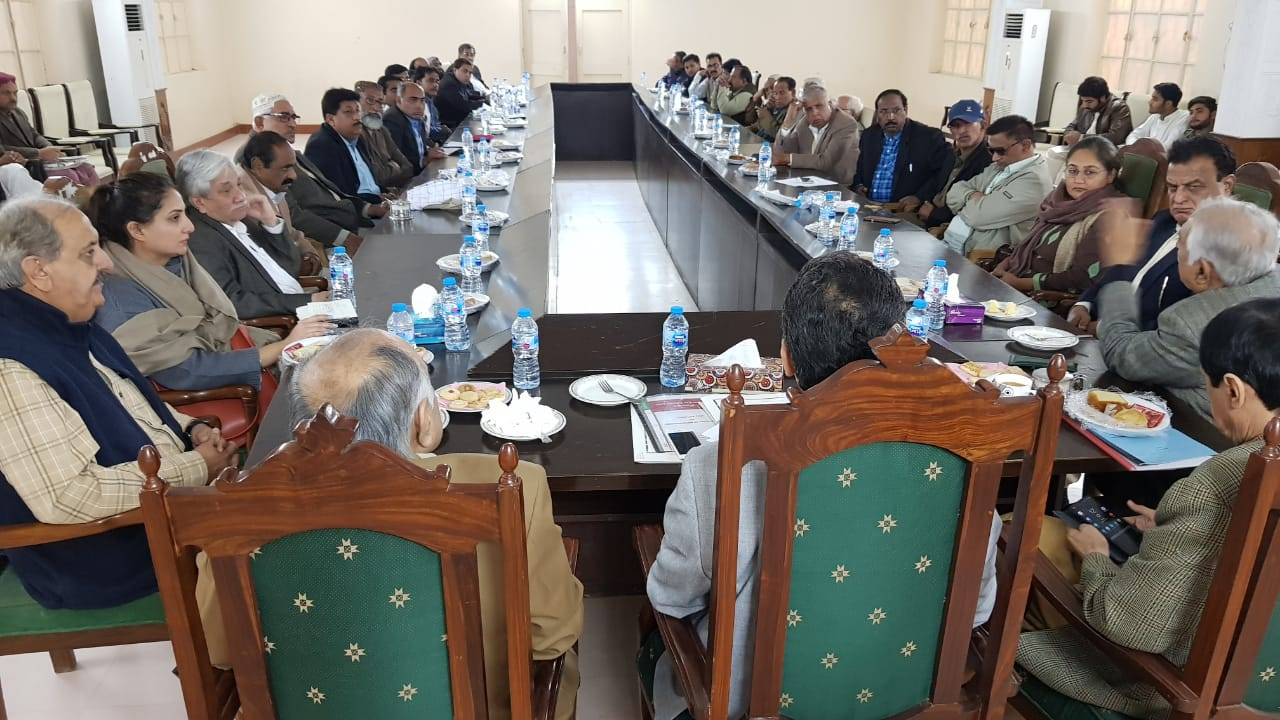 A meeting convened at Shikarpur by the Endowment Fund Trust (EFT) in consultation with the District Heritage Committee Shikarpur and the Director General Antiquities. It involved the survey of Budha Ashram and discussion about the scope and methodology of work for its restoration.