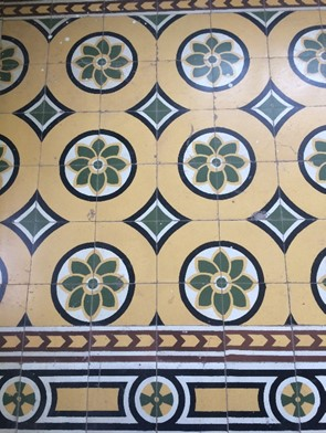 Original Floor Tile | Copyright Marvi Mazhar & Associates