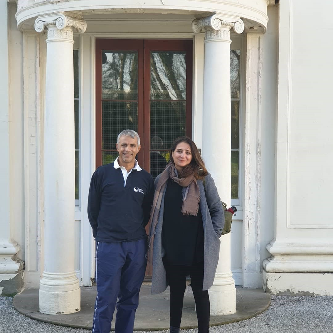 Figure 3: Marvi Mazhar (right) at Soho House in Birmingham with Legacy West Midlands founder and director, Aftab Rahman (left)