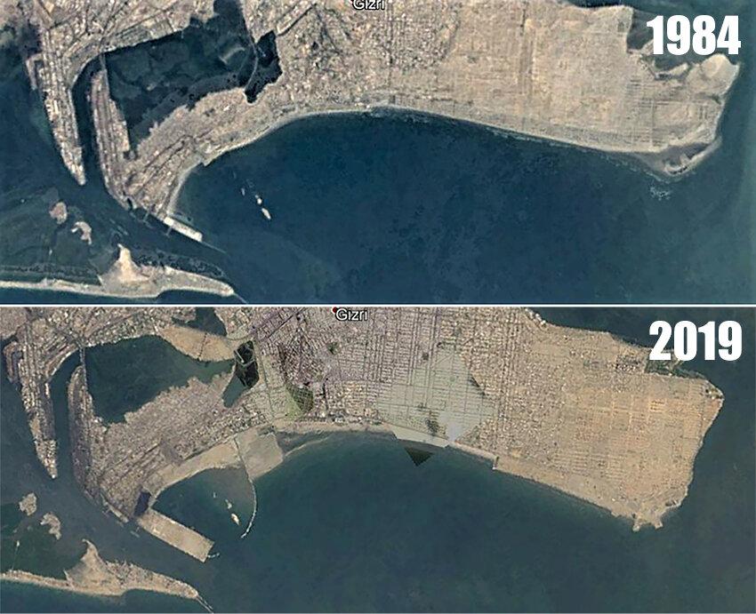 Over three decades, Karachi's beach has slowly been reclaimed How 'development' undid Seaview - Article by Marvi Mazhar & Associates  https://www.samaa.tv/environment/2019/07/how-development-undid-seaview/