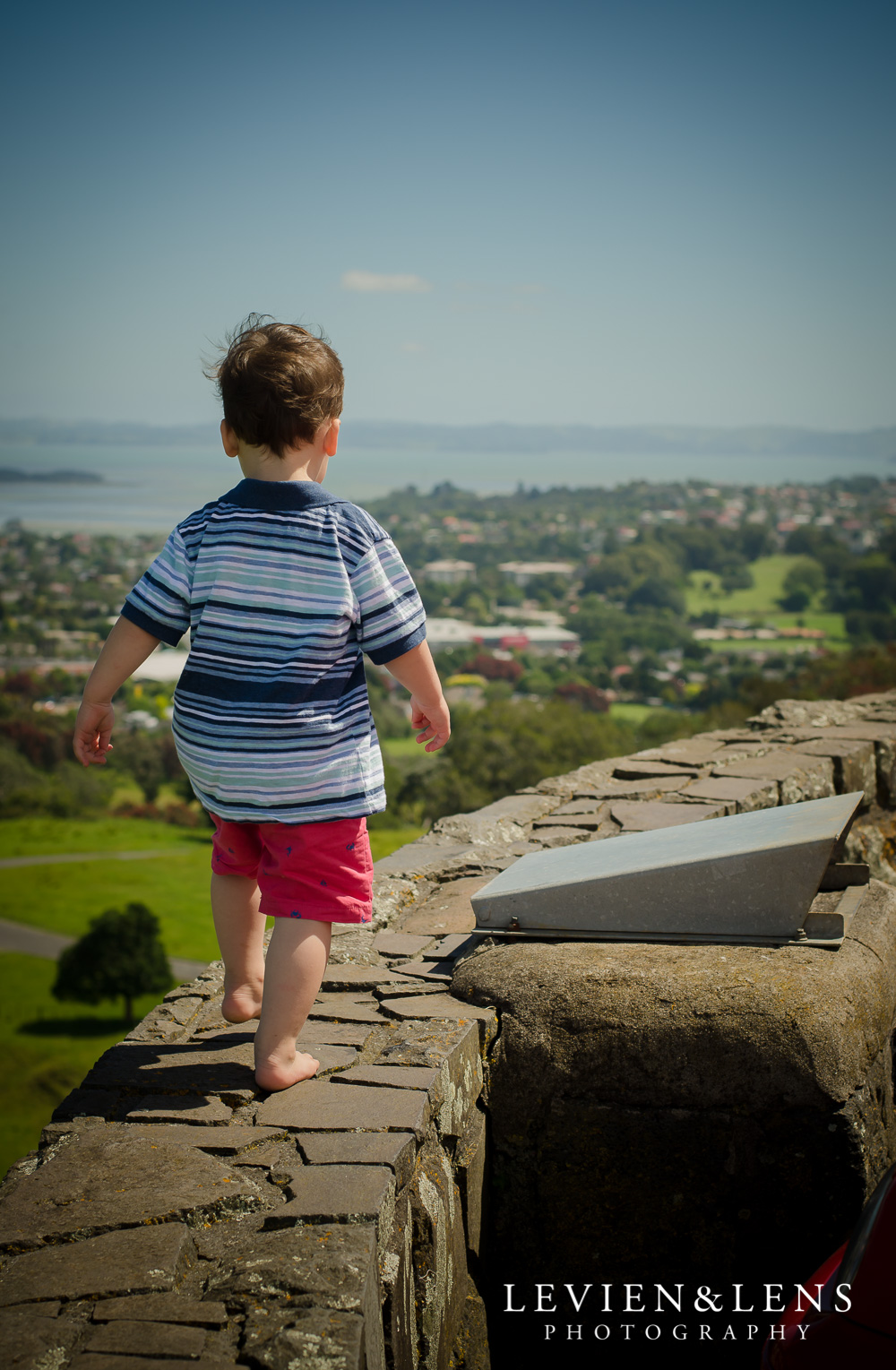 Boy on the wall