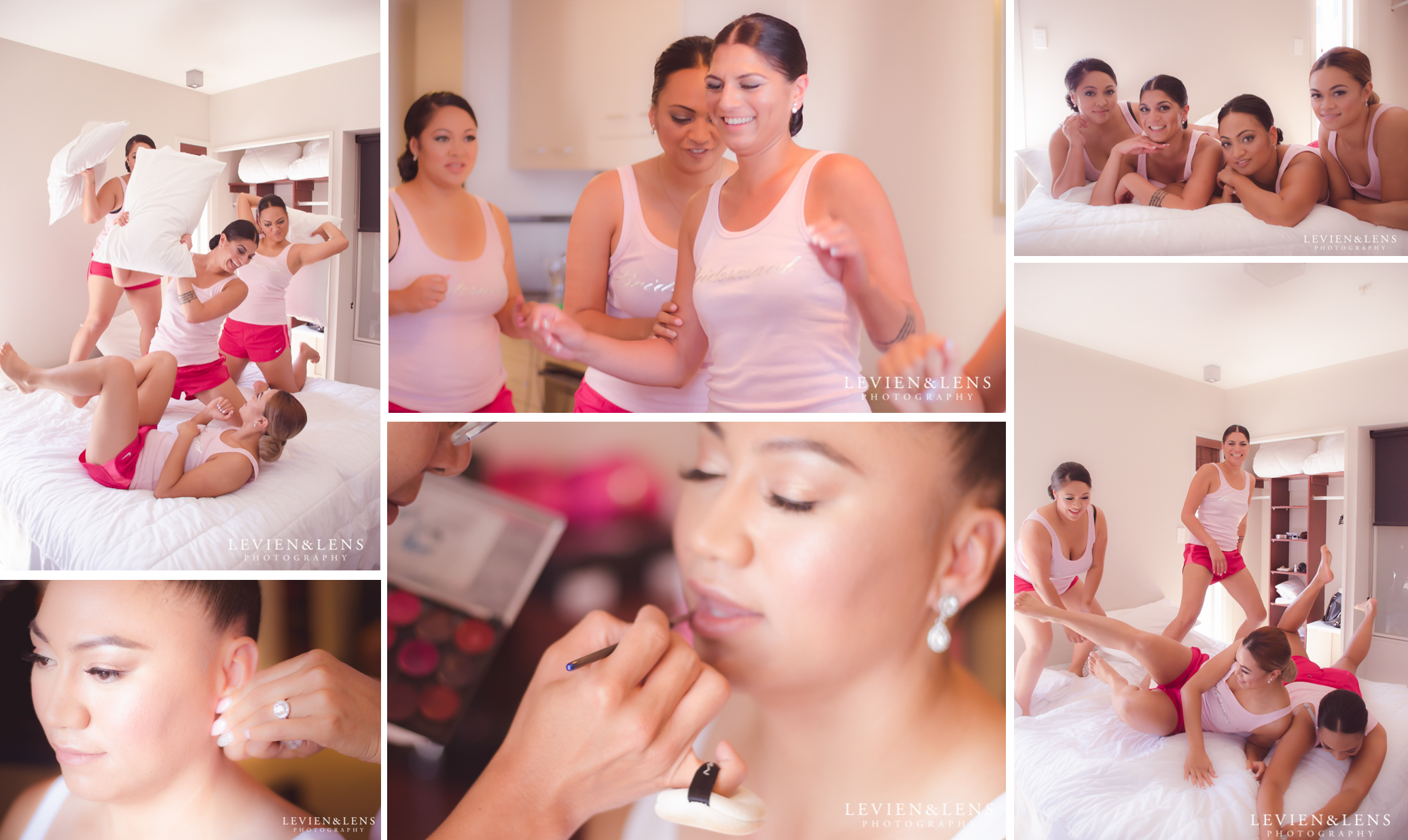 getting ready Unitec Pumphouse | Auckland City Oaks hotel | St Therese Church traditional wedding {Auckland couples photographer}