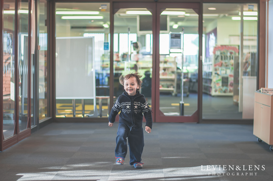 run in the library