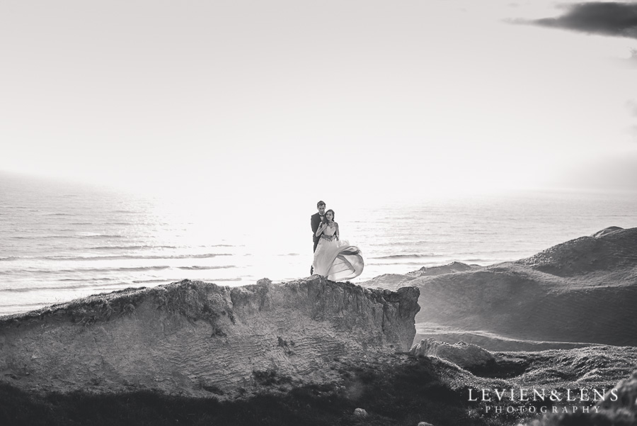 Beautiful couple on the cliff