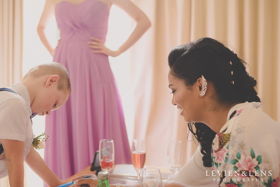 bride playing with boy {Waikato-Bay of plenty wedding photographer}