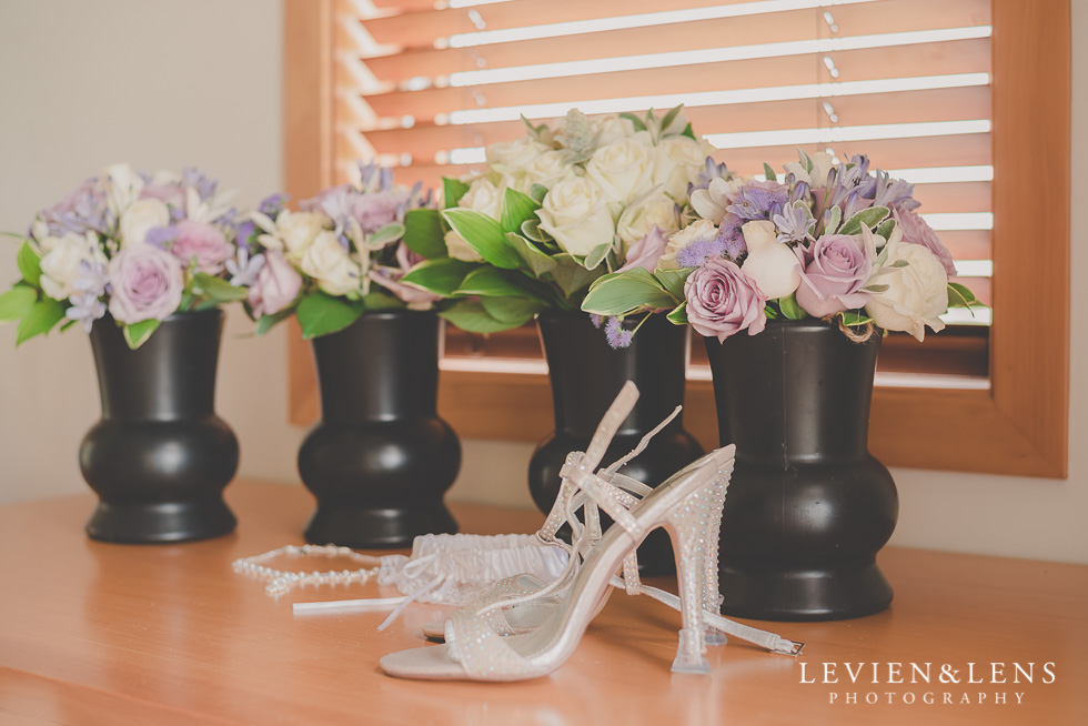 flowers-wedding shoes-details {Waikato-Bay of plenty wedding photographer}