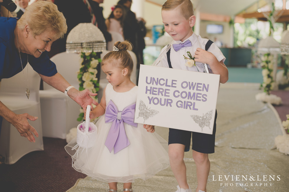 flower girl aisle {Auckland wedding photographer}