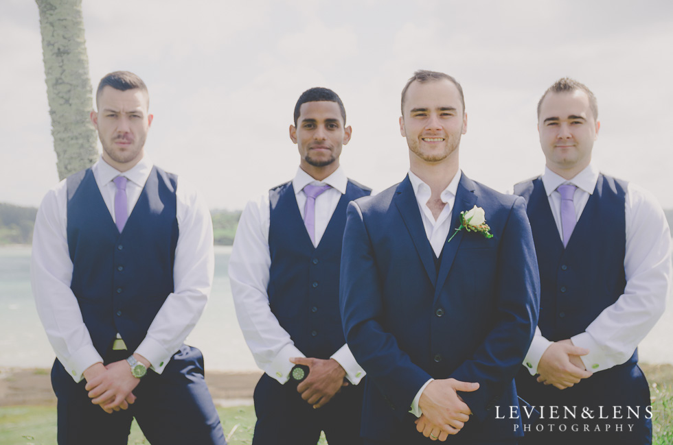 groom with groomsmen Formosa Golf Resort {Auckland wedding-engagement-couples photographer}