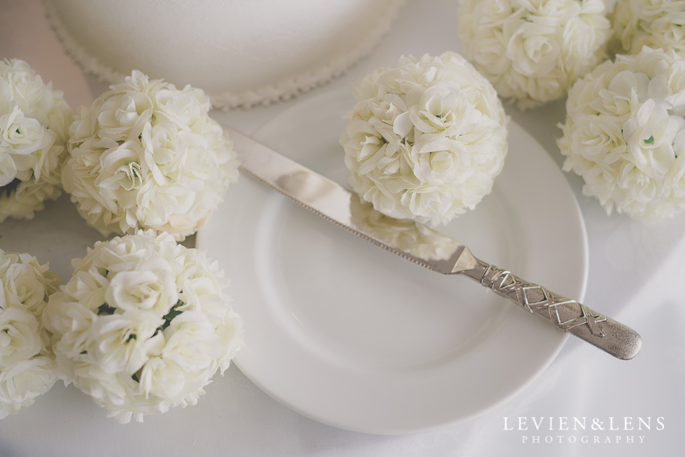 wedding knife reception details Formosa Golf Resort {Auckland wedding photographer}