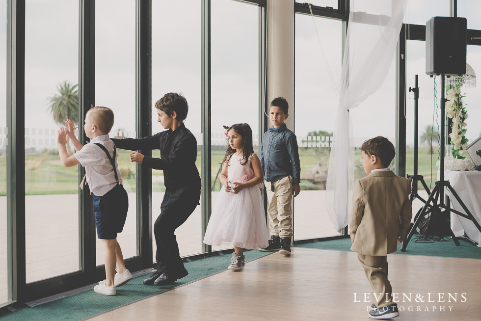 kids on dance floor reception details Formosa Golf Resort {Auckland wedding photographer}