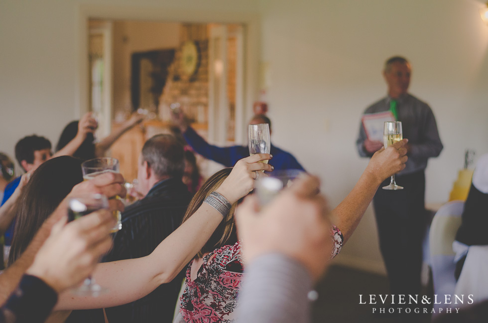 cheers reception {Auckland-Hamilton wedding photographer}