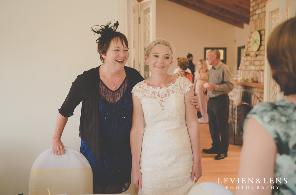 bride with mother reception {Auckland-Hamilton wedding photographer}