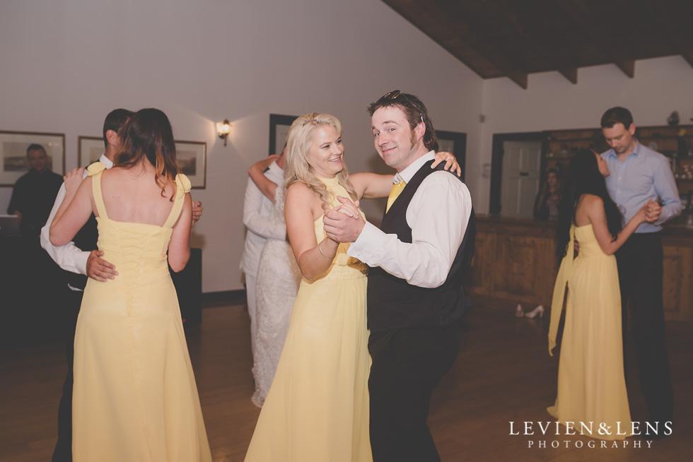 dance floor bridesmaids and groomsmen reception {Auckland-Hamilton wedding photographer}