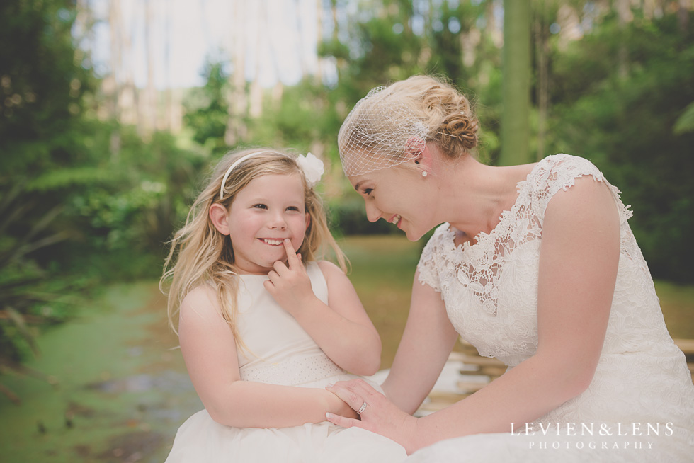 bride and flower girl {auckland wedding-couples photographer}