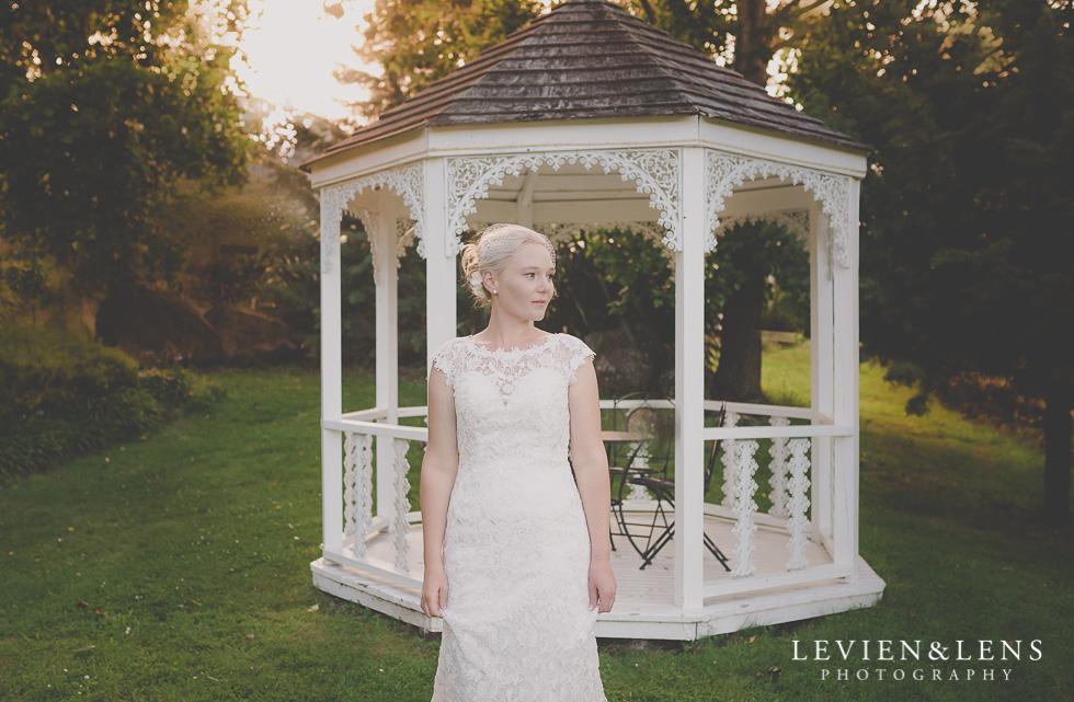 bridal portrait arbour {Auckland-Hamilton wedding photographer} Footbridge Lodge
