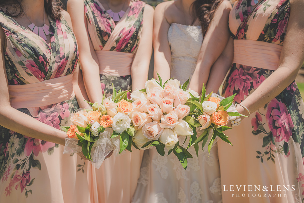 bridesmaids flowers Parnell on the Rose Garden {Auckland lifestyle wedding photographer}