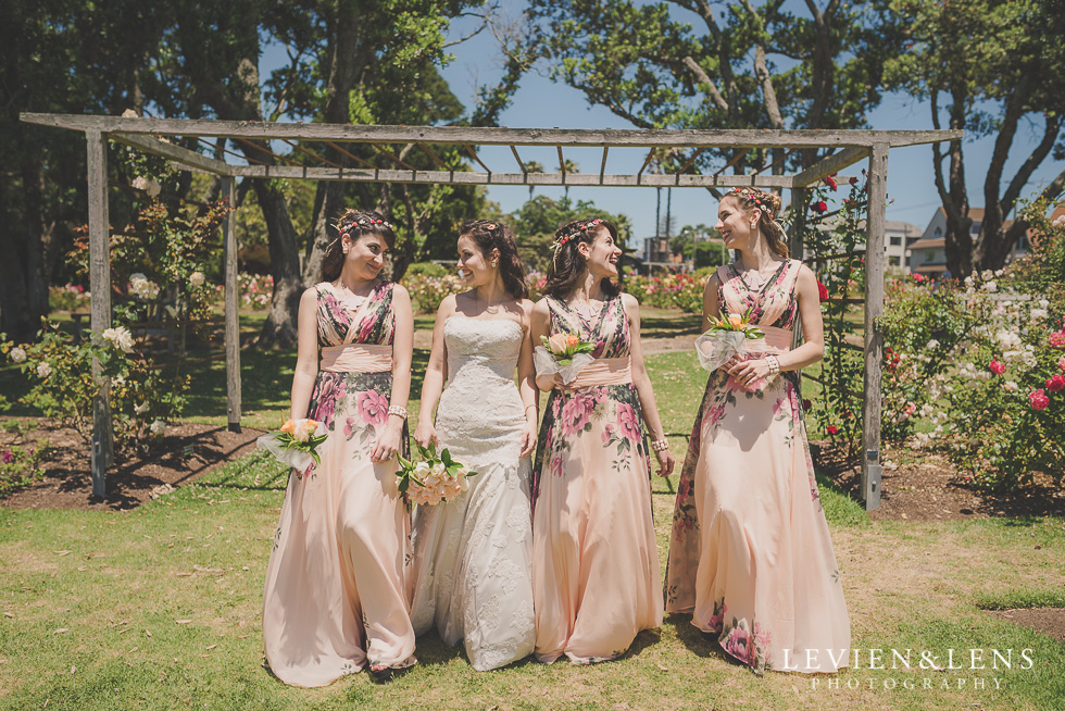 bridesmaids Parnell on the Rose Garden {Auckland lifestyle wedding photographer}