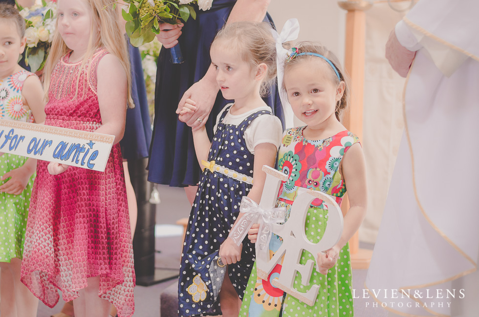kids ceremony St Anthony's Catholic Church Waiuku {Auckland wedding-couples-engagement photographer