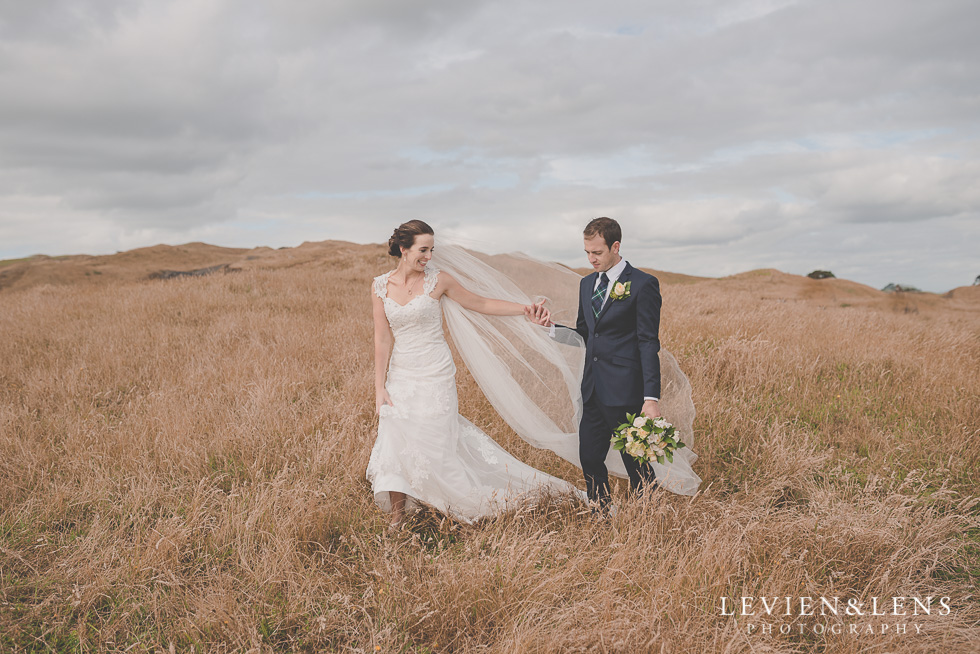 bride groom location shoot Kariotahi beach Castaways {Auckland wedding-engagement-couples photographer}