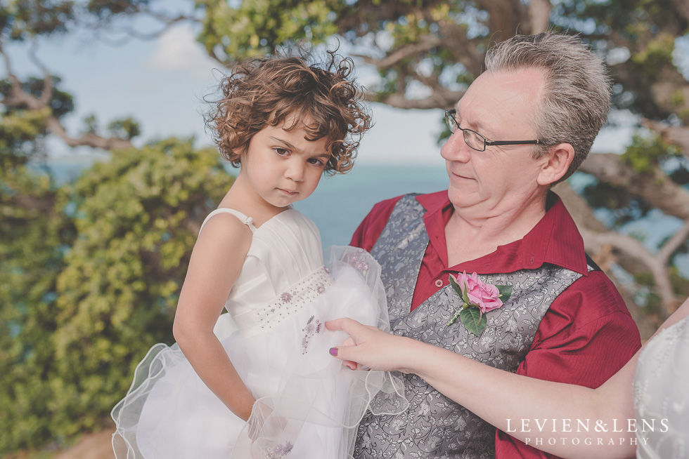 groom and flower girl wedding Musick Point {Auckland lifestyle couples-engagement photographer}