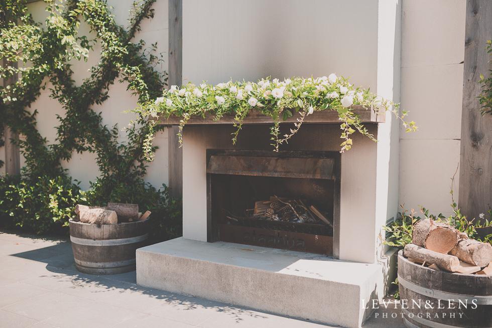 fireplace Ataahua Garden Venue {Tauranga wedding photographer}