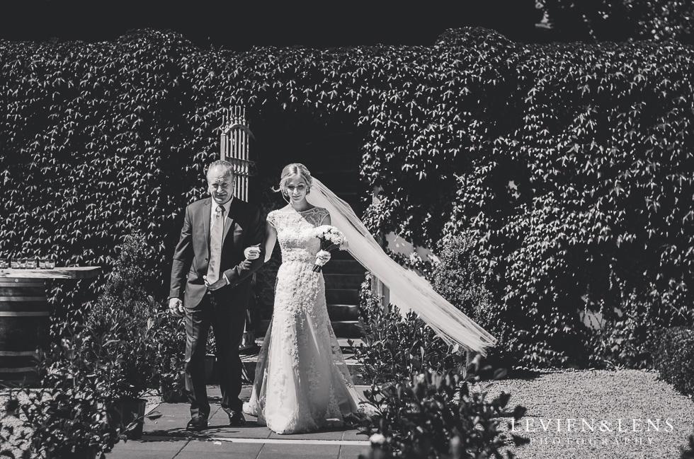 bride and father walking down aisle {Tauranga-Bay of Plenty wedding-couples-engagement photographer}