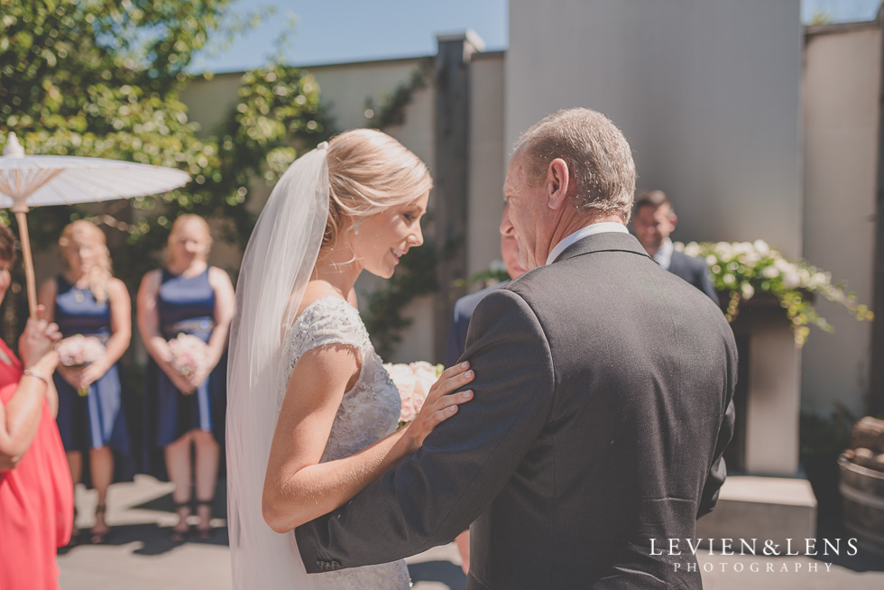 bride with father {Tauranga-Bay of Plenty wedding-couples-engagement photographer}