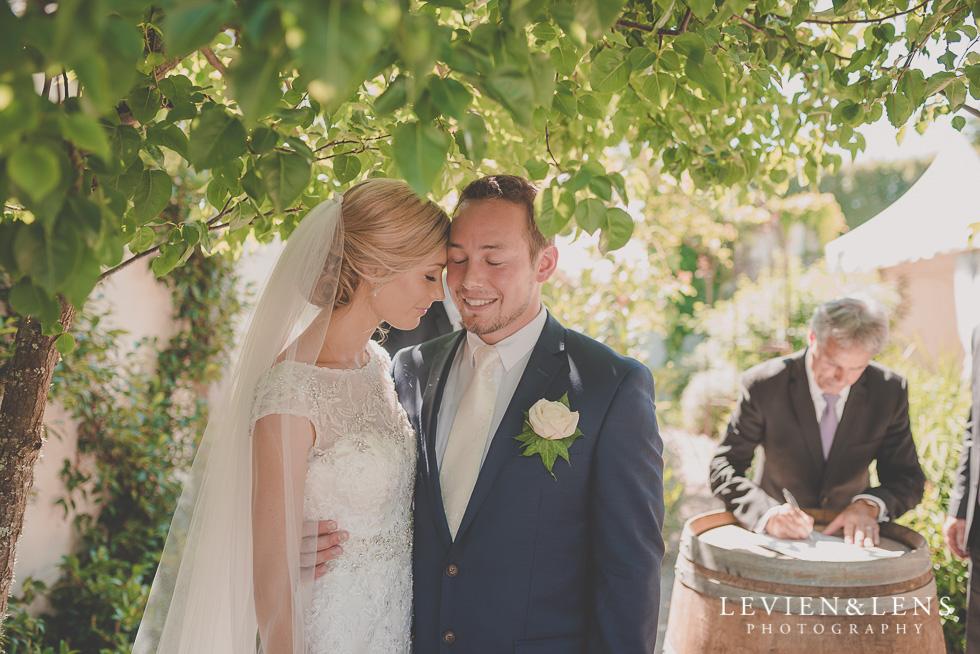 bride groom tender moments