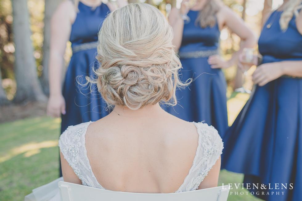 bride bridesmaids hair {Tauranga-Bay of Plenty wedding-couples-engagement photographer}