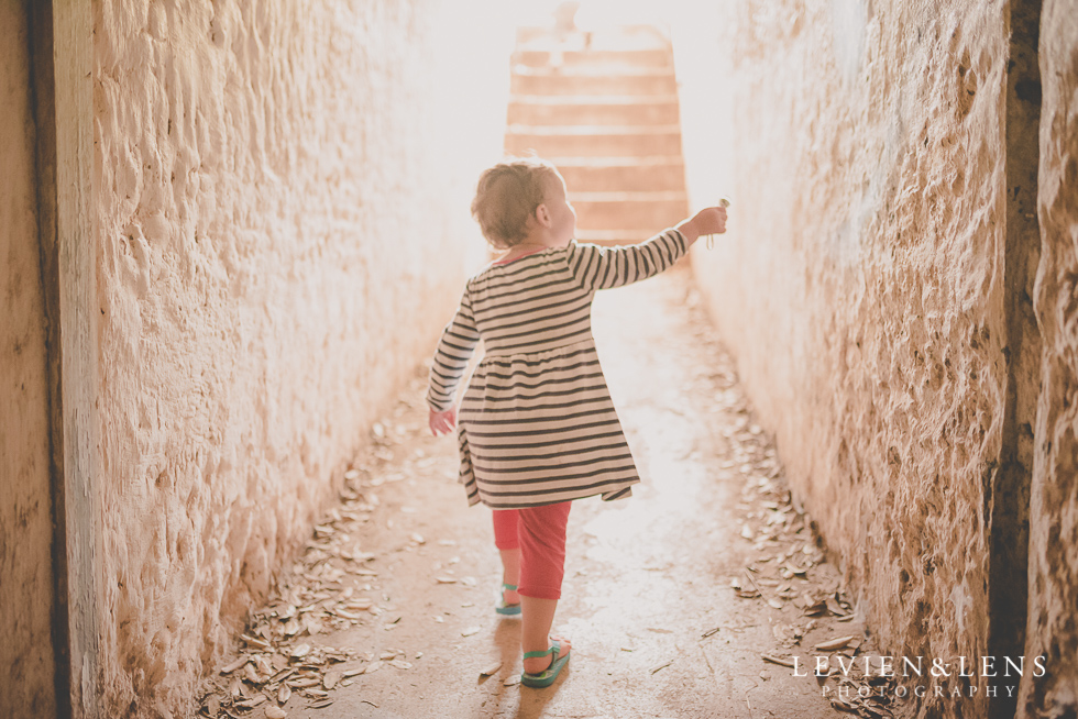 girl in tunnel North Head {Auckland lifestyle wedding photographer}