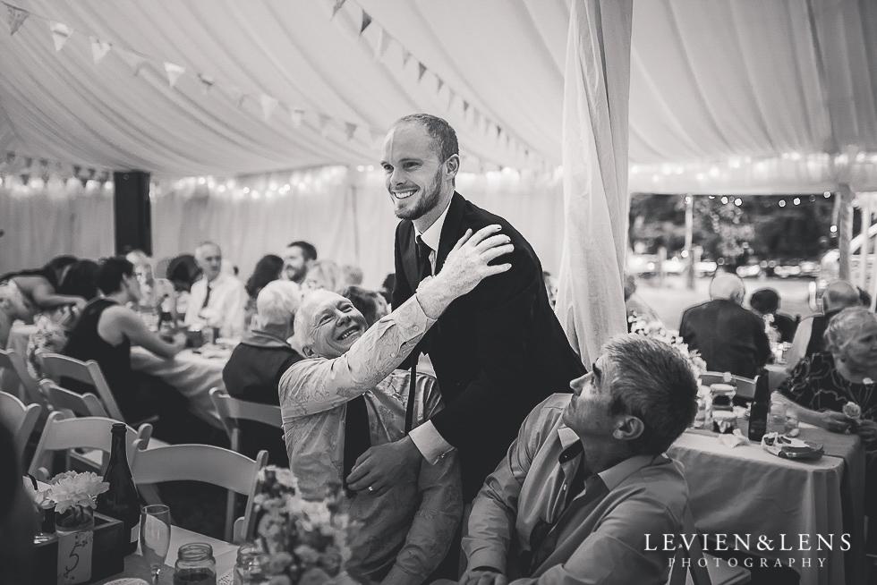 groom with father reception {Auckland-Hamilton-Tauranga wedding photographer}