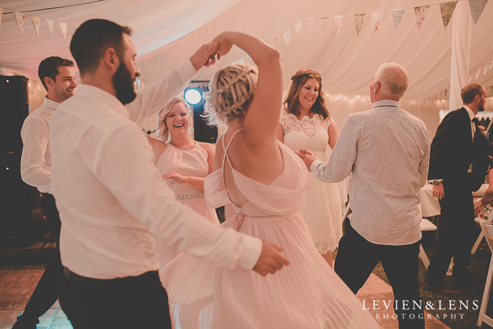 guests dancing reception {Auckland-Hamilton-Tauranga wedding photographer}