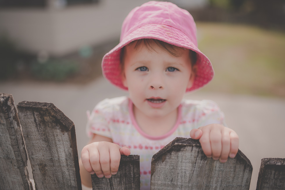 girl at fence {Hamilton lifestyle photographer}