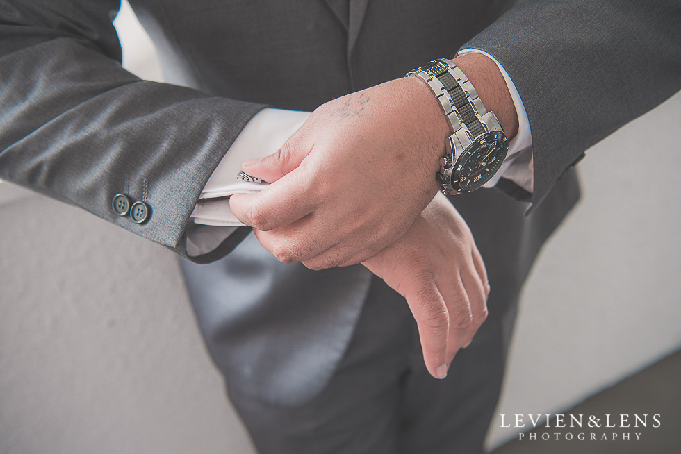 groom getting ready Church Of The Holy Sepulchre - Bastion Point {Auckland NZ lifestyle wedding-engagement photographer}