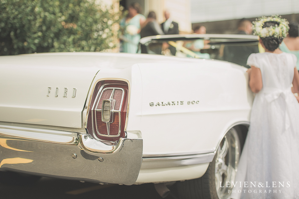 car at church Church Of The Holy Sepulchre - Bastion Point {Auckland NZ lifestyle wedding-engagement photographer}