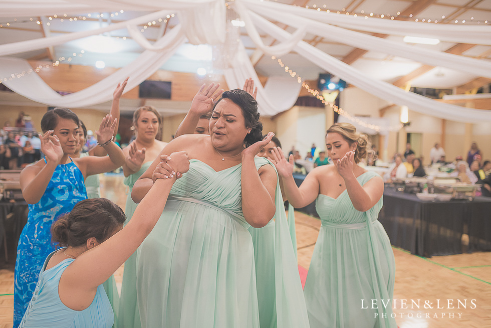bridesmaids dance reception {Auckland NZ lifestyle wedding-engagement photographer} Malaeola community centre