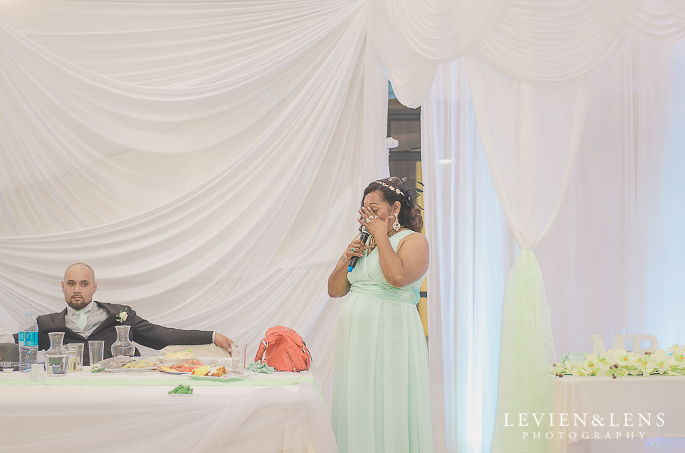 groom's mother speech reception {Auckland NZ lifestyle wedding-engagement photographer} Malaeola community centre
