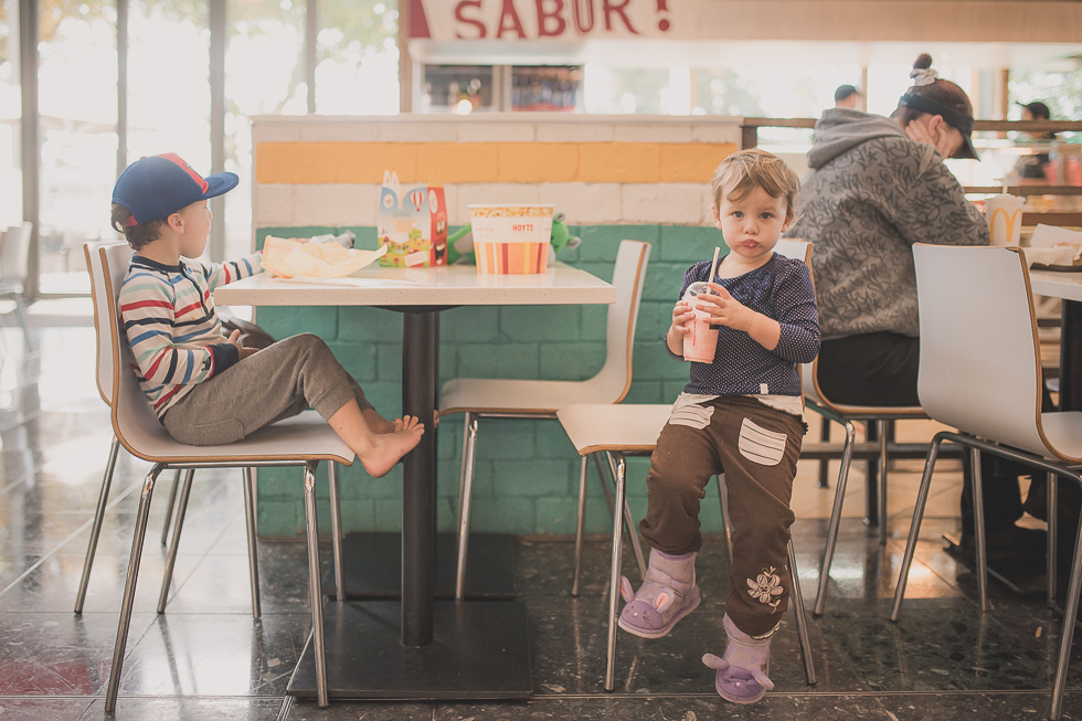 kids in shopping centre My 365 Project. April 2016 {New Zealand lifestyle wedding photographer}