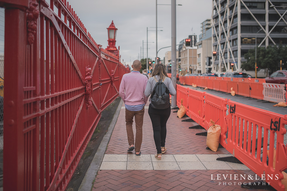 couple on street - ClickinWalk 2016 Auckland {New Zealand lifestyle wedding photographer}