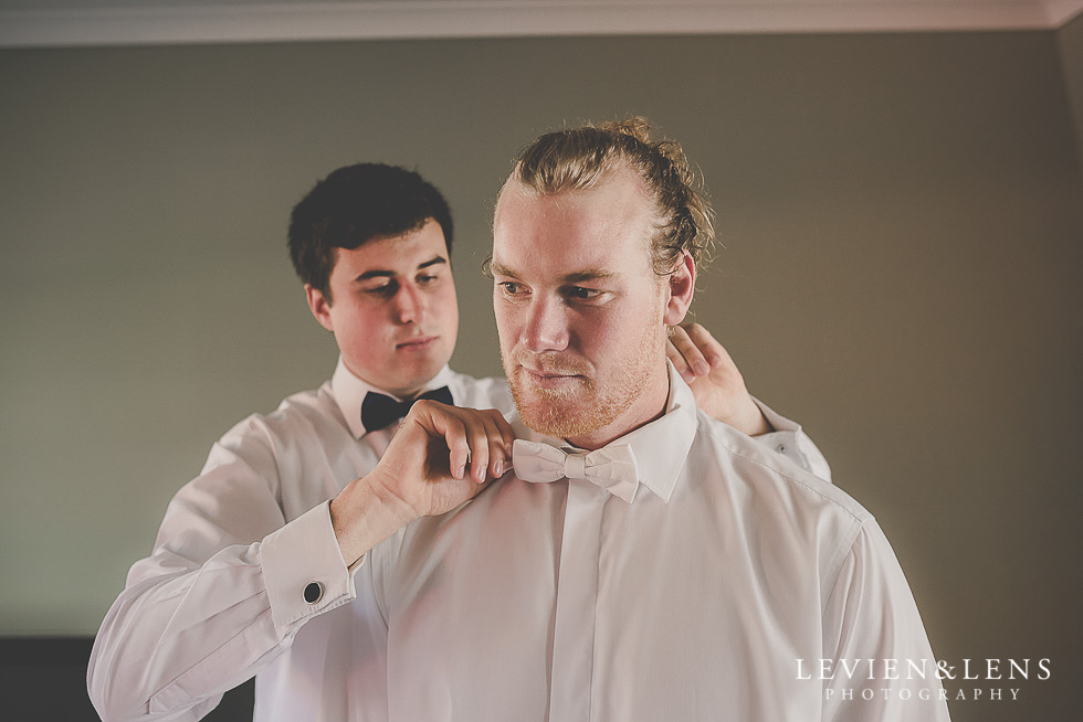 groom getting ready St Margarets Cafe - Karaka {Auckland lifestyle wedding photographer}