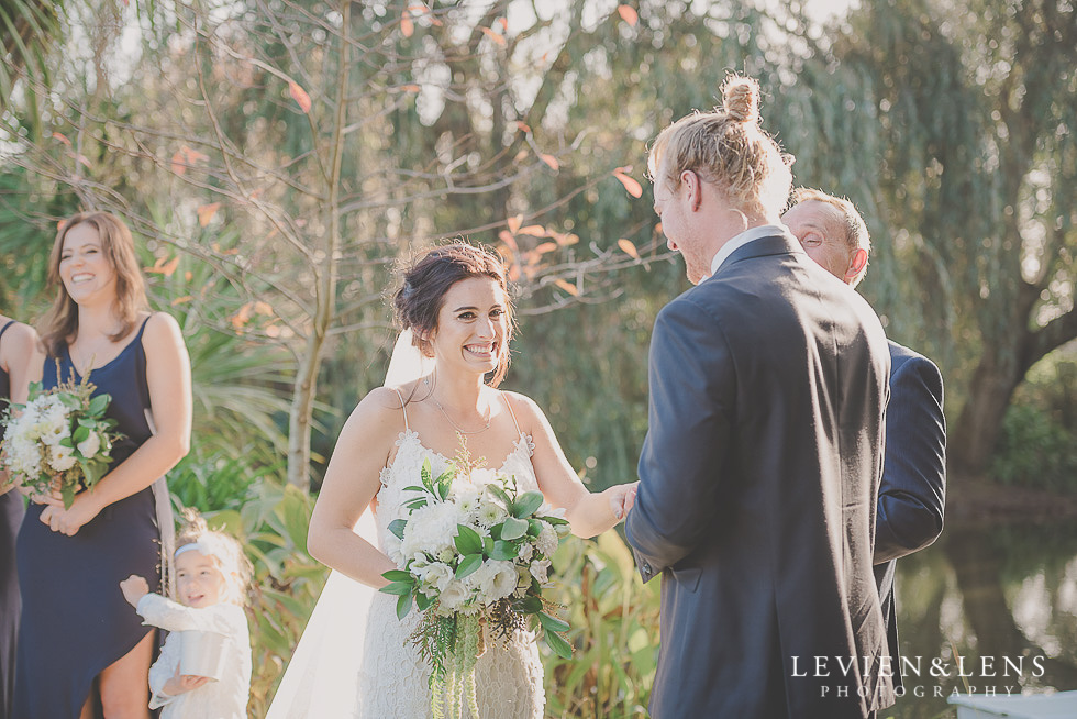 bride with groom - ceremony - St Margarets Cafe - Karaka {Auckland lifestyle wedding photographer}
