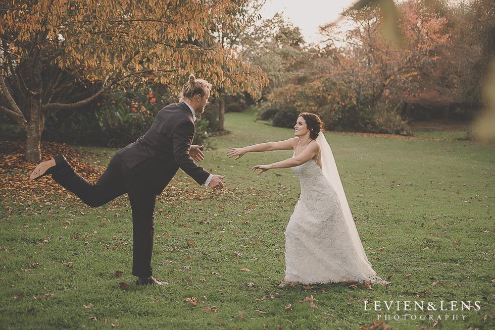 bride and groom dancing St Margarets Cafe - Karaka {Auckland lifestyle wedding photographer}
