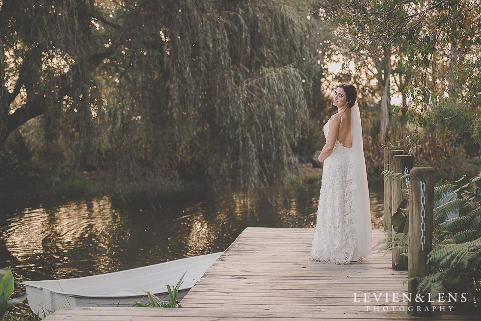 bridal portraiture near lake St Margarets Cafe - Karaka {Auckland lifestyle wedding photographer}