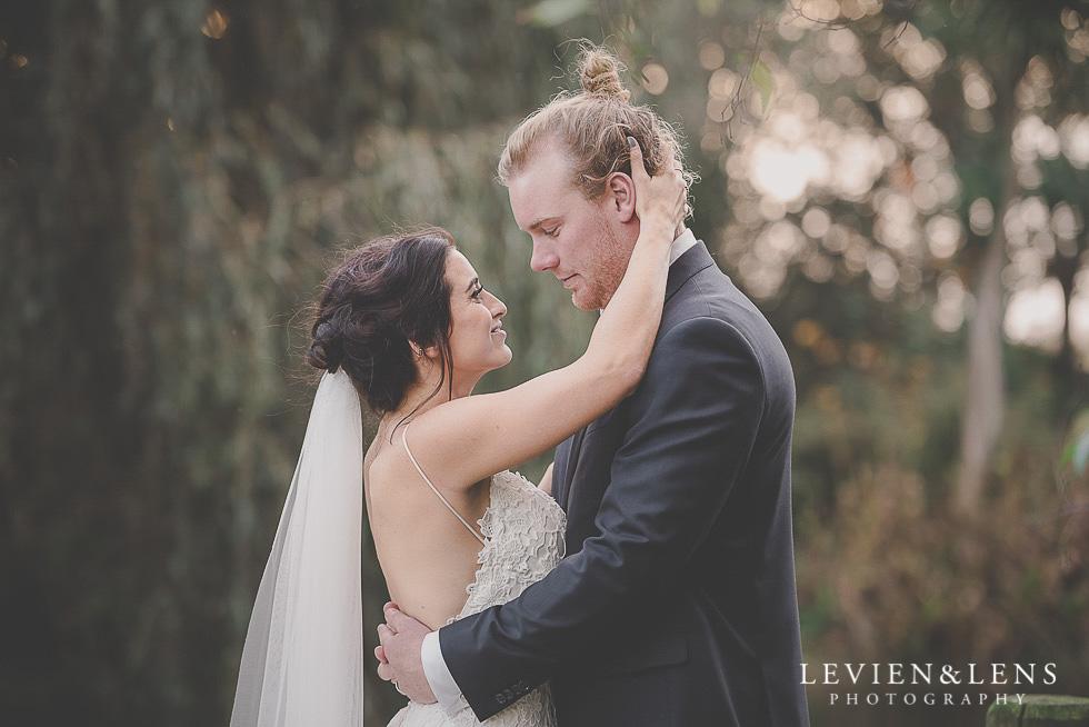 bride hands on groom neck St Margarets Cafe - Karaka {Auckland lifestyle wedding photographer}