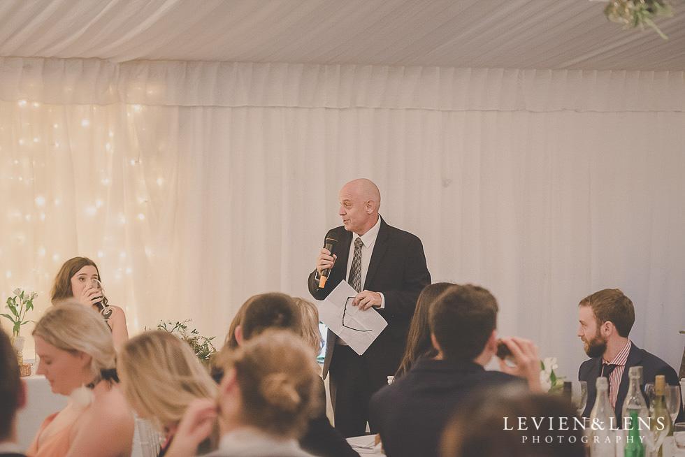 dad speeches St Margarets Cafe - Karaka {Auckland lifestyle wedding photographer}