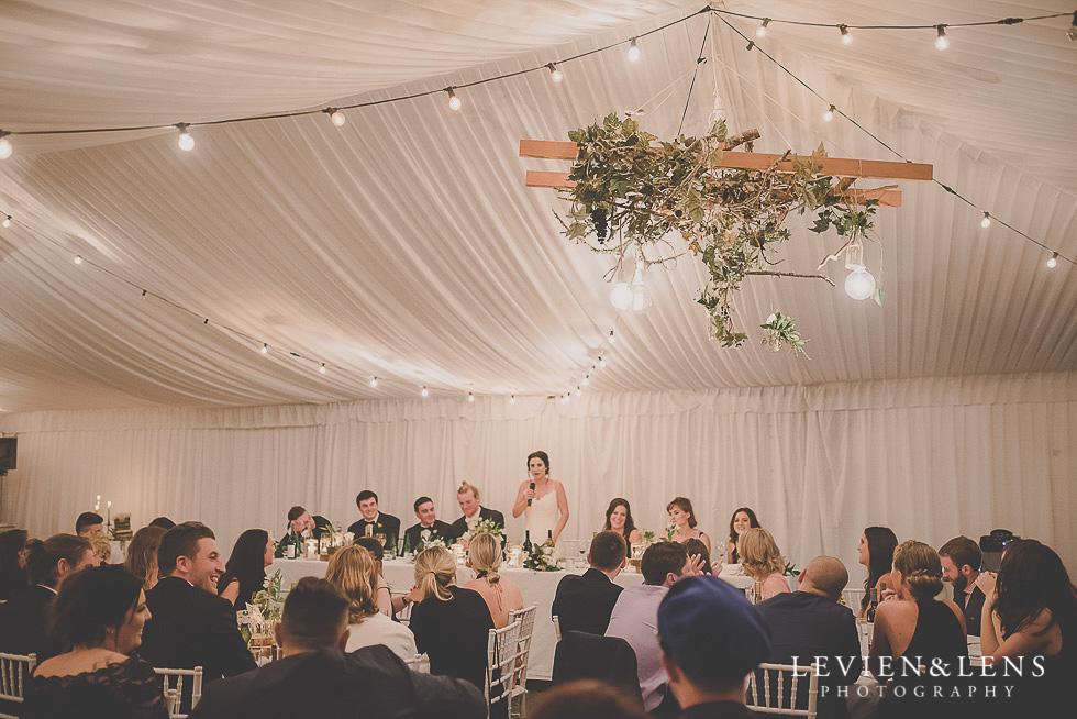 bride speech - reception St Margarets Cafe - Karaka {Auckland lifestyle wedding photographer}