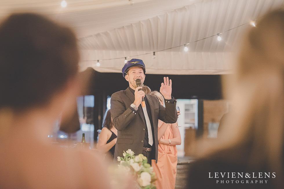 MC at reception St Margarets Cafe - Karaka {Auckland lifestyle wedding photographer}