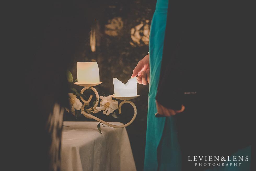 candles at reception St Margarets Cafe - Karaka {Auckland lifestyle wedding photographer}