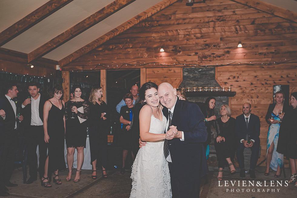bride and dad dance - reception St Margarets Cafe - Karaka {Auckland lifestyle wedding photographer}